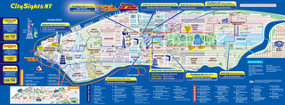 Carte de bus touristique et hop on hop off bus tour de City Sights NY