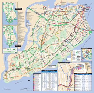 Carte du reseau de bus de Staten Island New York