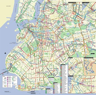 Carte du reseau de bus de Brooklyn