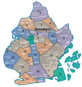 Carte des quartiers de Brooklyn