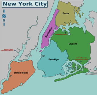 Carte des arrondissements de New York